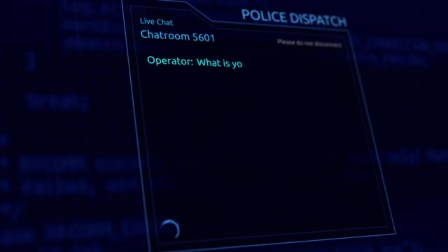 Online Police Dispatch Chatroom Graphics - What is your Emergency? - vídeo