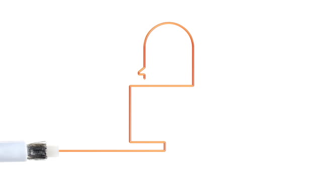 Online security and safety. Copper wire of a broadband cable forms the shape of a padlock. padlock stock videos & royalty-free footage