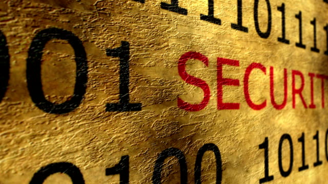 Online security grunge concept Online security grunge concept identity theft stock videos & royalty-free footage