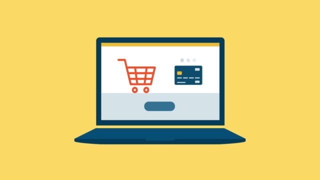 Online shopping and payments Online payment on a laptop: e-payments and online shopping concept shopping online stock videos & royalty-free footage
