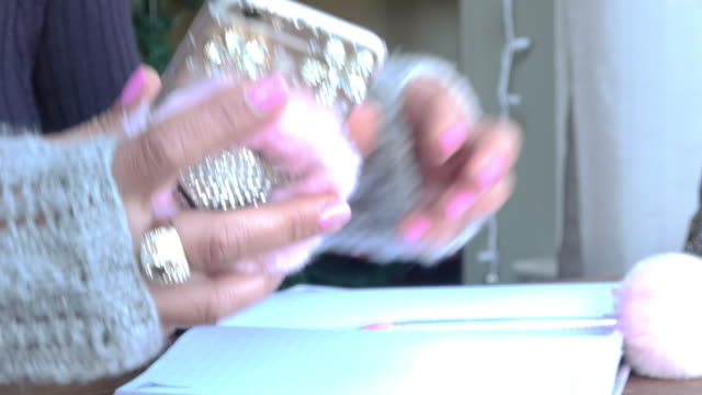 Online Shopping on a Mobile Phone with Credit Card Closeup of hands browsing on phone, reaching for a credit card to complete online shopping process. cyber monday stock videos & royalty-free footage