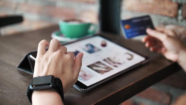 Online Shopping on Digital Tablet