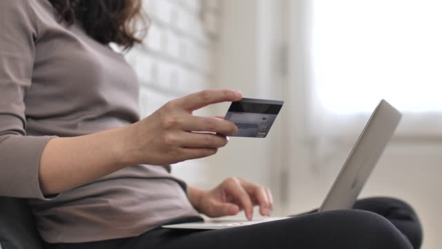 online shopping with laptop - fraud stock videos & royalty-free footage