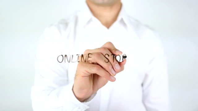 Online Store, Man Writing on Glass video