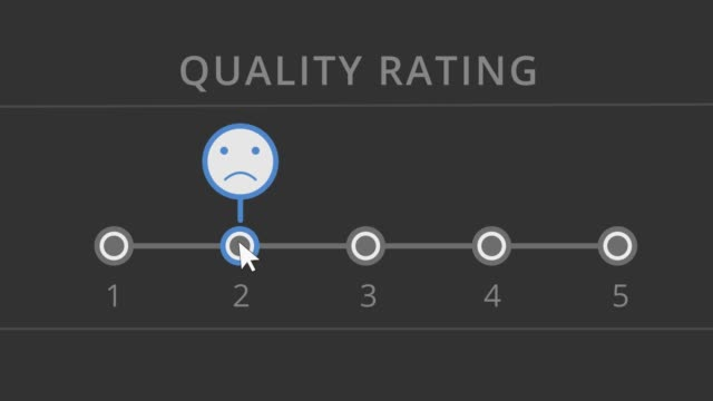 online survery or service rating web interface for quality service rating survey icon stock videos & royalty-free footage