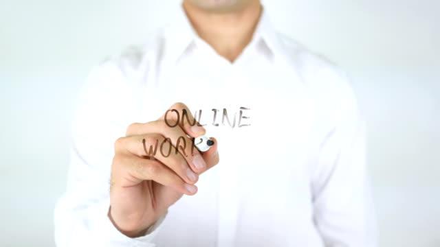 Online Workshop, Man Writing on Glass video