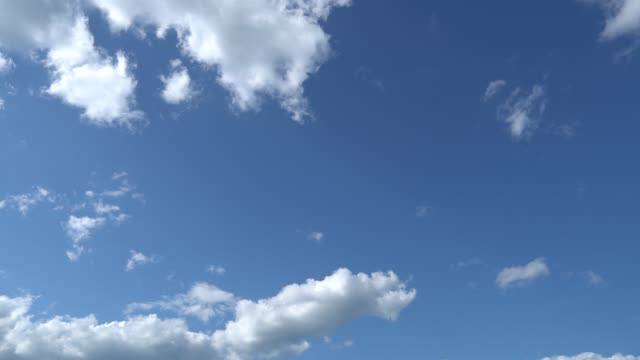 Only summer blue sky with fast moving metamorphic white clouds. Full HD Time Lapse footage