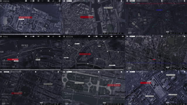 op down aerial drone tracking shot: white autonomous self driving car moving through city. concept: artificial intelligence scans surrounding environment, detecting cars. - treedeo stock videos & royalty-free footage