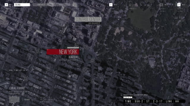 op Down Aerial Drone Tracking Shot: White Autonomous Self Driving Car Moving Through City. Concept: Artificial Intelligence Scans Surrounding Environment, Detecting Cars.