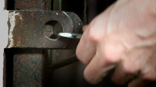 Open a padlock video