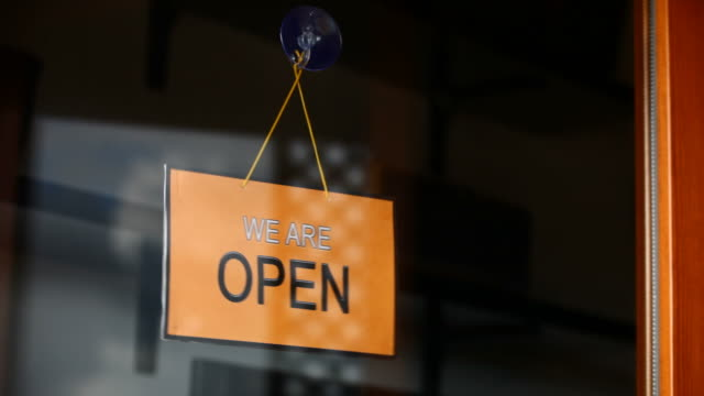 Open and closed signs video