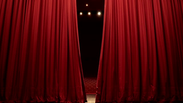 Open, Close Stage Curtain of Convention, Theatre Center Open, Close Stage Curtain of Convention, Theatre Center stage theater stock videos & royalty-free footage