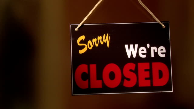 Open Closed sign video