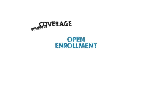 Open Enrollment concept. Chart with keywords and icons Open Enrollment concept. Chart with keywords and icons medicare stock videos & royalty-free footage