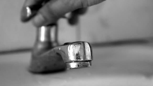 open faucet but little water video