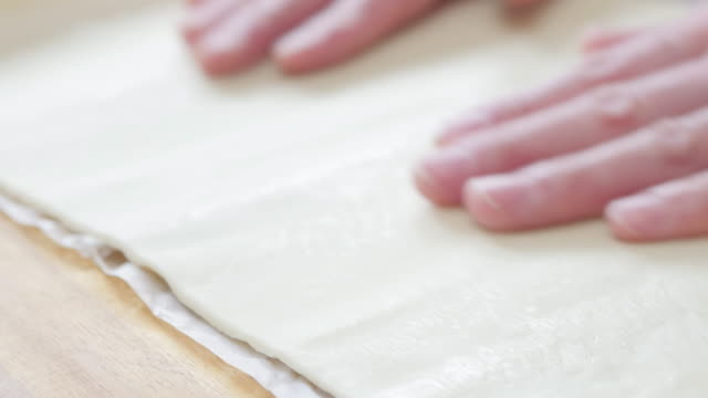open pastry sheet - impasto video stock e b–roll