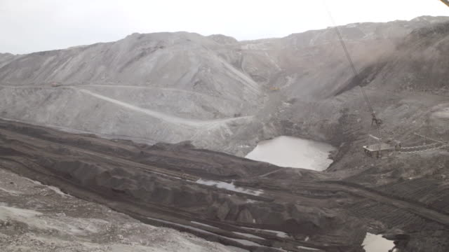 Open pit mining, development of trench excavator dragline video