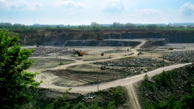 stockvideo's en b-roll-footage met open pit time lapse - geologie