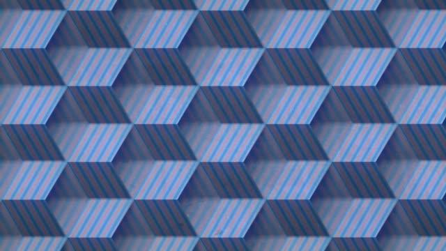 offene gestreifte boxen endlose bewegung. schärfentiefe. 3d-rendering nahtlose schleifenanimation. 4k, ultra hd auflösung - flat design videos stock-videos und b-roll-filmmaterial