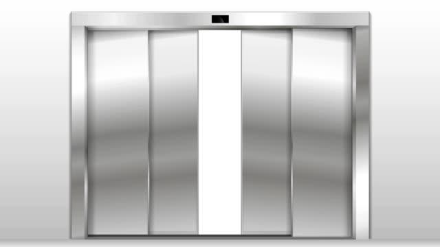 open the elevator doors - ascensore video stock e b–roll