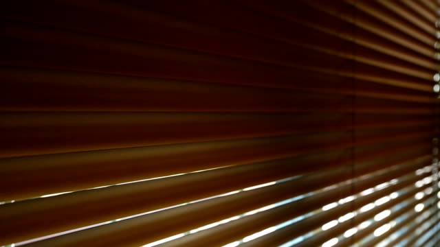 Open window blinds interior video