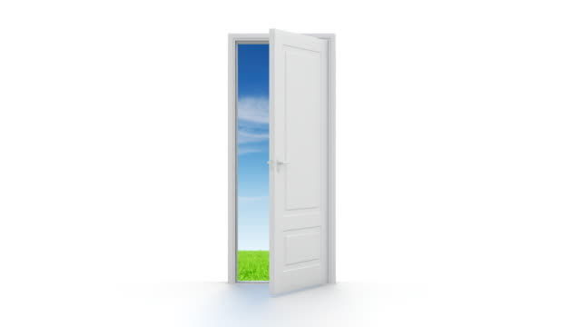 Opened door to another World on white video
