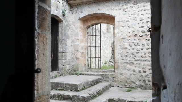 opening a door in an old monastery video