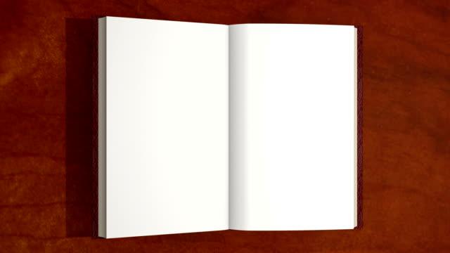 vídeos y material grabado en eventos de stock de abrir libro, páginas flip. - libro