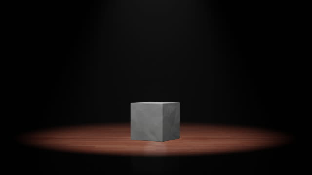 opening box on the floor with flare light. 3d animation with 4k resolution. - bonus video stock e b–roll
