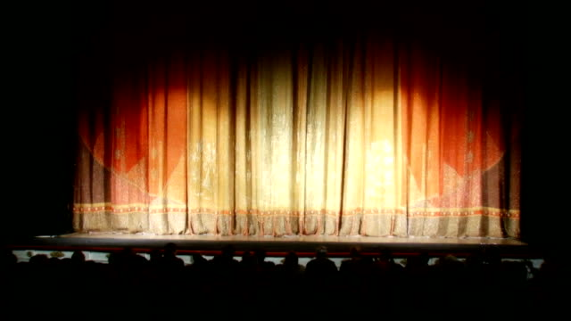 Opening curtain - Isolated On Green video