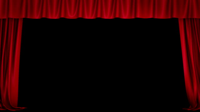 Opening curtain. video