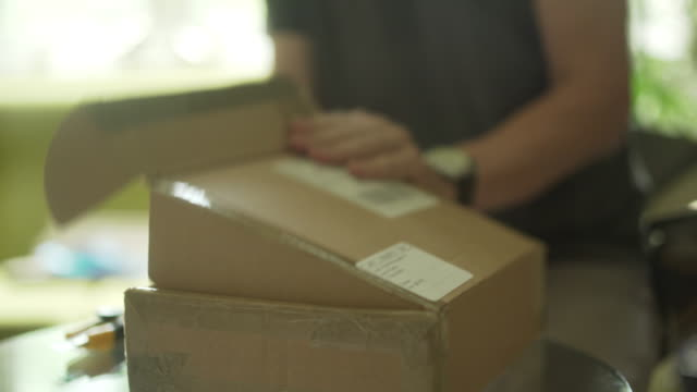 Opening delivered parcel video