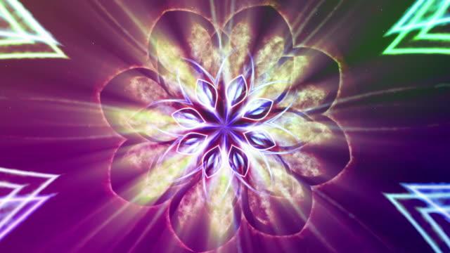 Opening lotus - fractal art. video