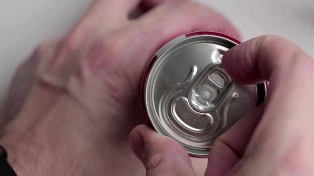 Opening of aluminum can with soda Opening of aluminum can with soda video soda stock videos & royalty-free footage