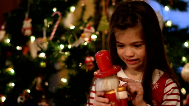 Opening presents on Christmas morning video