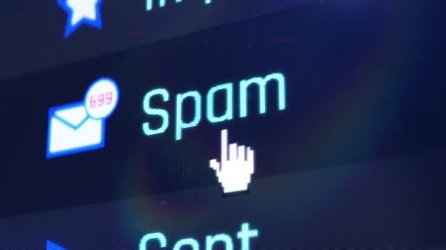 otwieranie folderu spamu, zbyt wiele wiadomości e-mail, przeciążenie informacji, komunikacja - phishing filmów i materiałów b-roll