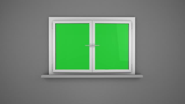 Opening white window video