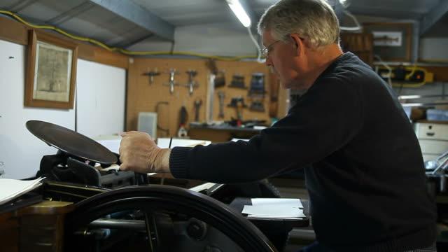 operating a letterpress video