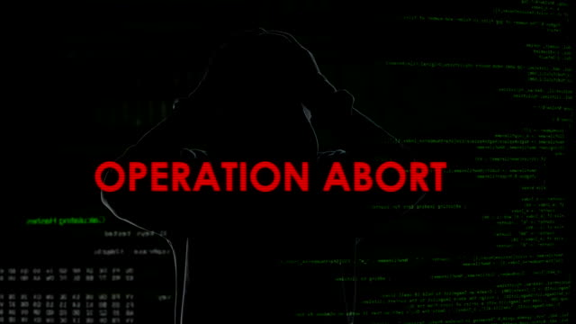 Operation abort, unsuccessful attempt to infect computer with trojan virus video