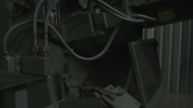 Operation of the equipment of the plant on production of brake shoes video