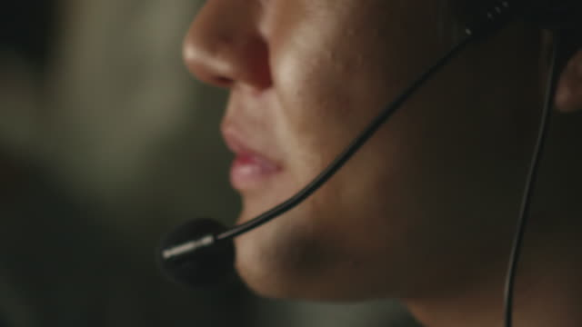 Operator working at night Communication hands free device stock videos & royalty-free footage