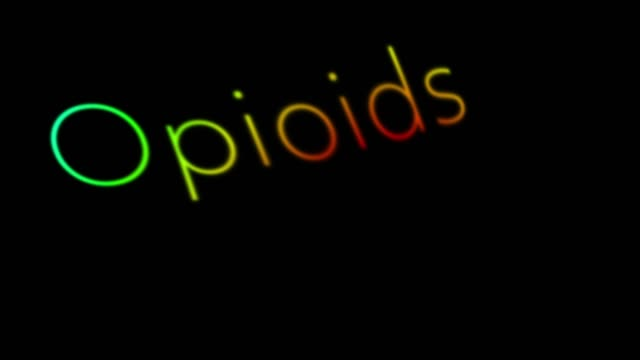 opioids - assuefazione video stock e b–roll