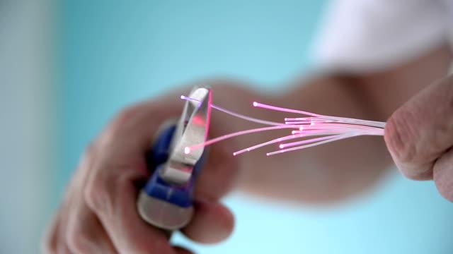 optisk fiber - fiber bildbanksvideor och videomaterial från bakom kulisserna