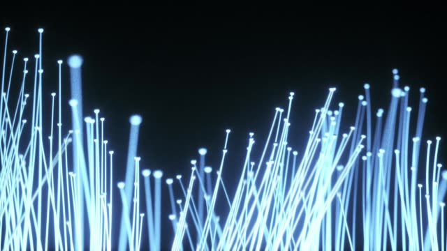 vídeos de stock, filmes e b-roll de animação de fibras ópticas de distribuição do sinal luminoso - fibra óptica