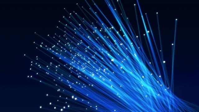 vidéos et rushes de fibres optiques animation - fibre