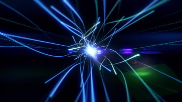 optical fibers v2 4k - filo metallico video stock e b–roll