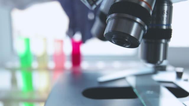 Optical microscope - scientific and laboratory equipment. video