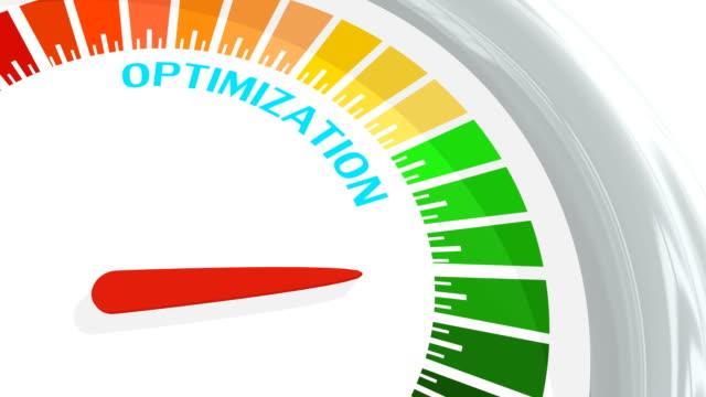 vídeos y material grabado en eventos de stock de medidor conceptual de nivel de optimización - seo
