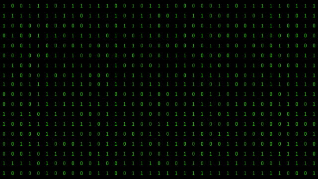 01 or binary numbers on the computer screen on monitor matrix background, digital data code in hacker or safety security technology concept. abstract illustration - binary code stock videos & royalty-free footage