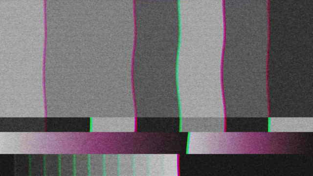 vhs or tv static noise background. vintage glitch effect 4k. - cassetta video stock e b–roll